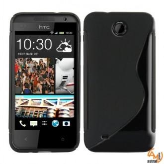 Силиконов калъф за HTC Desire 300 черен