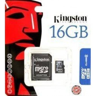 Kingston microSDHC Card 16GB C4 + SD Adapter