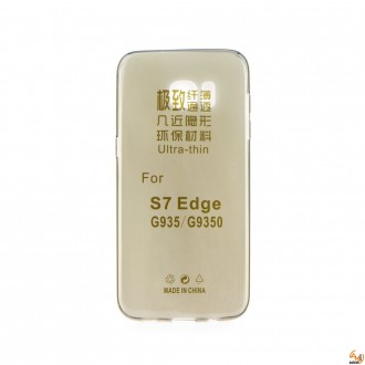 Силиконов калъф за Samsung G935 Galaxy S7 Edge 0.3mm прозрачен мат