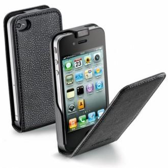 Flap Essential за iPhone 4/4S черен Cellular line