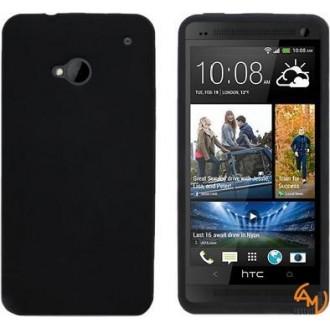 Силиконов калъф за HTC One/M7 черен