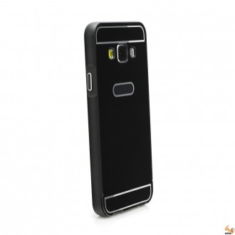 Метален бъмпер с гръб за Samsung Galaxy S7 Edge G935F Black