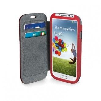 BookCard case за Samsung Galaxy S4 червен Cellular line