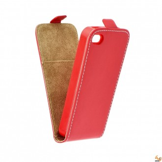 Калъф тип тефтер за LG K8 червен