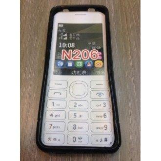 Силиконов калъф за Nokia Asha 206 черен