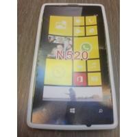 Силиконов калъф за Nokia Lumia 520 бял