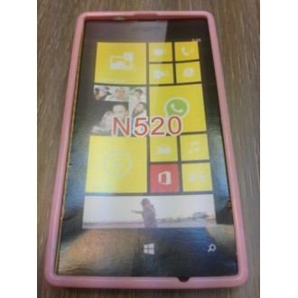 Силиконов калъф за Nokia Lumia 520 розов
