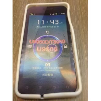 Силиконов калъф за Huawei G600 - бял