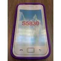 Силиконов калъф за Samsung S5830 Galaxy Ace -лилав