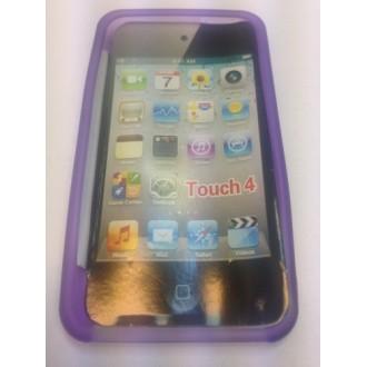 Силиконов калъф  за ipod touch 4 лилав