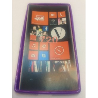 Силиконов калъф  за Nokia Lumia 720 лилав
