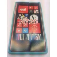Силиконов калъф  за Nokia Lumia 720 син