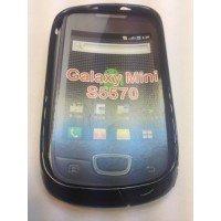 Силиконов калъф за Samsung Galaxy Mini S5570 черен