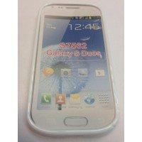 Силиконов калъф за Samsung S7562 Galaxy S Duos бял