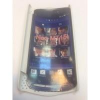 Твърд гръб за Sony Ericsson Xperia Neo бял grill