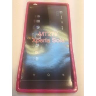 Силиконов калъф за Sony Xperia Sola/MT27 розов