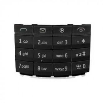 Nokia X3-02 оригинална клавиатура latin dark-metal