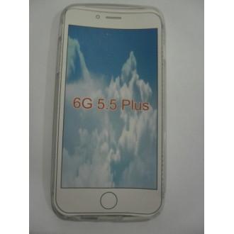 Силиконов калъф за iPhone 6/6S Plus прозрачен с matt