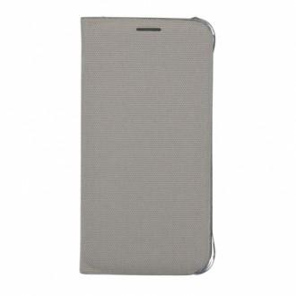 Samsung Flip Case Fabric EF-WG925BS for Galaxy S6 Edge silver
