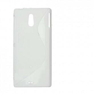 Силиконов калъф за Sony Xperia Miro ST23 бял