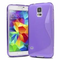 Силиконов калъф за Samsung Galaxy S5 mini лилав