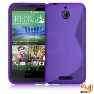 Силиконов калъф за HTC Desire 510 лилав