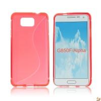 Силиконов калъф Samsung Galaxy G850 Alpha червен