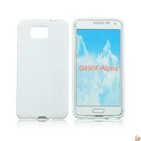 Силиконов калъф Samsung Galaxy G850 Alpha бял