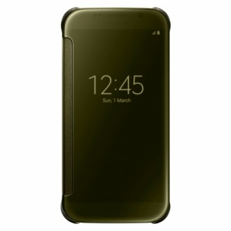 Samsung Flip-Case Clear View EF-ZG920BF for Galaxy S6 gold