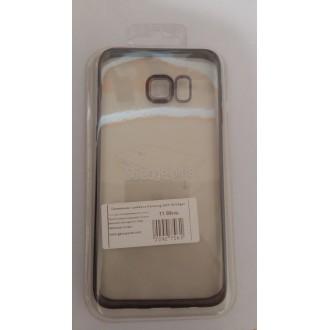 Силиконов калъф за Samsung G928 Galaxy S6 Edge+ с лайсна Black