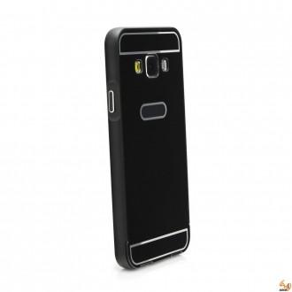 Метален бъмпер с гръб за Samsung Galaxy S6 Edge+ Black