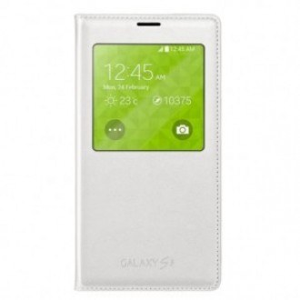 Samsung Cover S-View EF-CG900BW for Galaxy S5 white бял.
