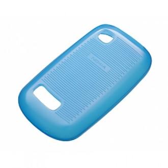 Оригинален силиконов калъф за Nokia Asha 200/201 CC-1034 син