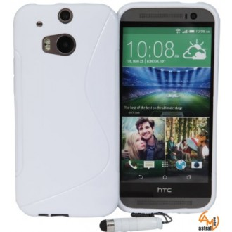 Силиконов калъф за HTC One M8 бял