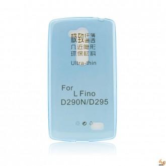 Силиконов калъф за LG L Fino 0.3мм син