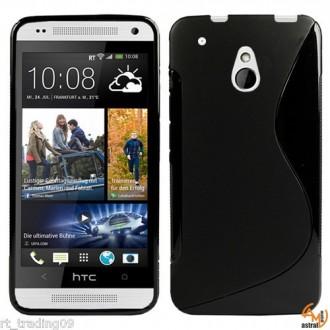 Силиконов калъф за HTC One Mini /M4 черен