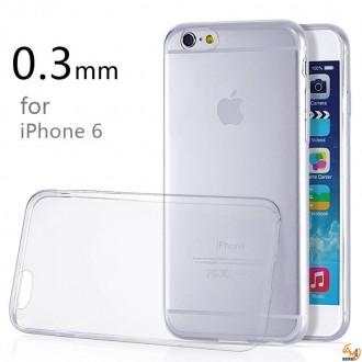Силиконов калъф за iPhone 6/6S 0.3мм прозрачен
