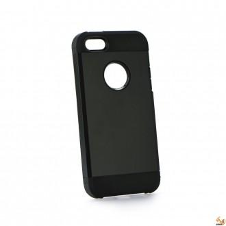 HYBRID силиконов калъф за IPhone 6/6S черен