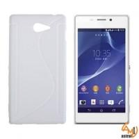 Силикон за Sony Xperia M2 бял