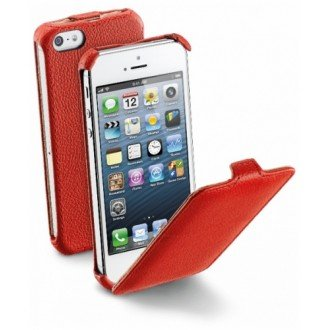 Flap Essential за iPhone 5/5S червен Cellular line