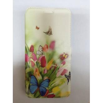 Страничен калъф тефтер за Samsung Galaxy A3 (2016) пеперуди