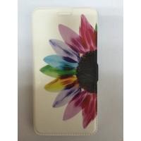 Страничен калъф тефтер за Samsung Galaxy A3 (2016) цвете