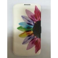 Страничен калъф тефтер за LG K10 цвете