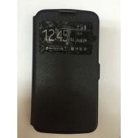 Страничен калъф тефтер за LG K10 черен