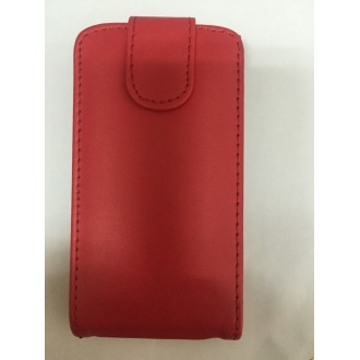 Калъф тип тефтер за Nokia Asha 205 червен