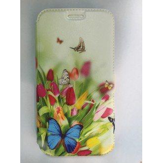 Страничен калъф тефтер за Huawei Y625 пеперуди