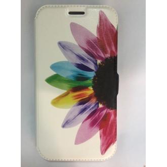 Страничен калъф тефтер за Huawei Y625 цвете