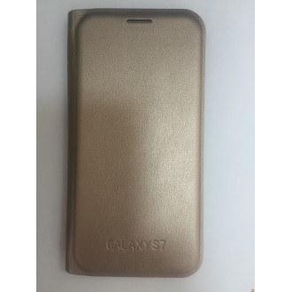 Флип за Samsung Galaxy S7 G930 Gold