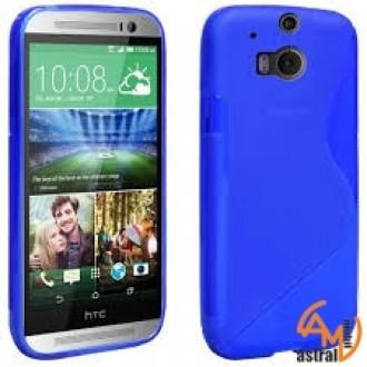 Силиконов калъф за HTC One M8 син