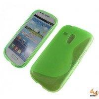 Силиконов калъф за Samsung Galaxy S3 mini зелен